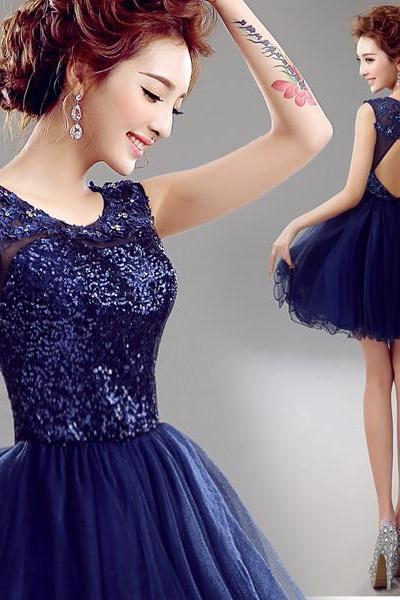 Beautiful sequined beaded crystal lace applique sexy backless prom dresses new arrival